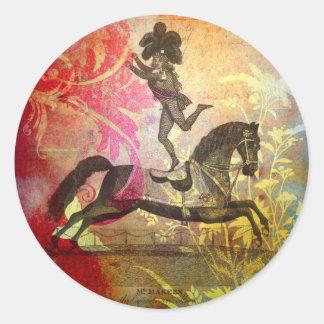 Vintage Circus Classic Round Sticker