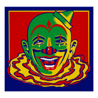 Vintage Circus Clown Posters Poster