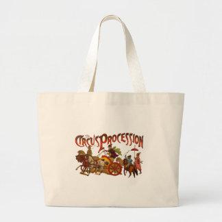 Vintage Circus  Clowns and Horses Plain Jumbo Tote Bag