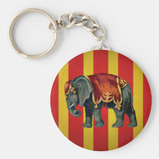 vintage circus elephant key ring