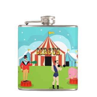 Vintage Circus Flask