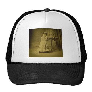 Vintage Circus Freak Midget Woman Trucker Hat