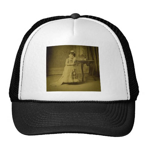 Vintage Circus Freak Midget Woman Mesh Hat