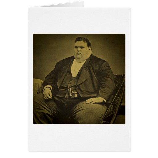 Vintage Circus Freak Sideshow Fat Man Cards