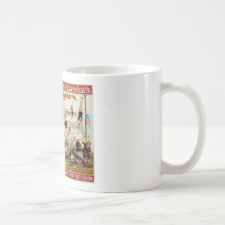 Vintage Circus Greatest Show On Earth Basic White Mug