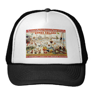 Vintage Circus Greatest Show On Earth Mesh Hats