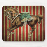vintage circus horse mouse pad