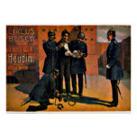 Vintage Circus: Houdini and the Circus, 1908 Posters