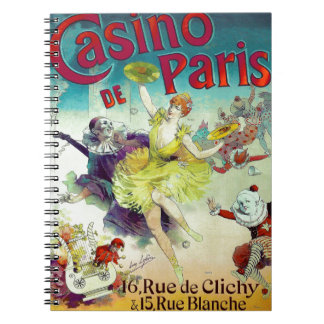 Vintage circus illustration French cabaret Paris Notebooks