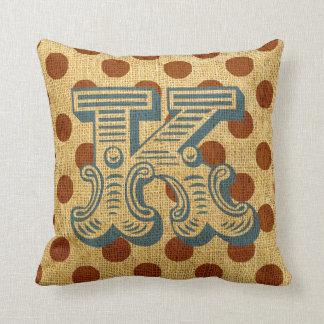 Vintage Circus Letter K Throw Pillow