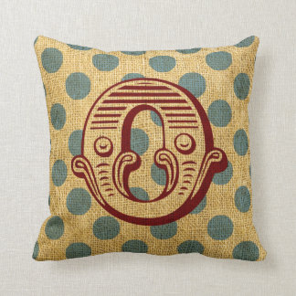 Vintage Circus Letter O Cushion
