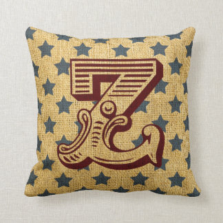 Vintage Circus Letter Z Cushion