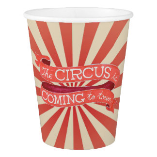 Vintage Circus Paper Cup