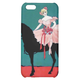 Vintage Circus Performer with a Black Horse iPhone 5C Cover