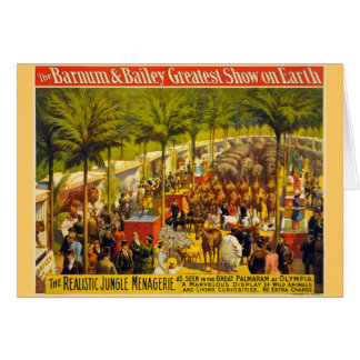 Vintage Circus Poster - Barnum & Bailey Card