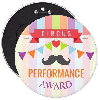 Vintage Circus Poster Children's Birthday Party 6 Cm Round Badge