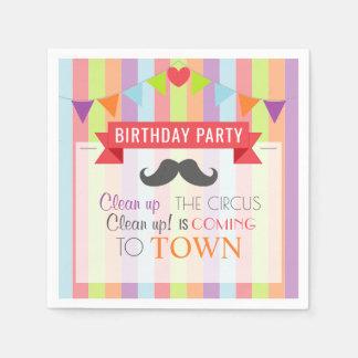 Vintage Circus Poster Children's Birthday Party Paper Napkin