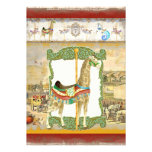 Vintage Circus Poster, Giraffe Baby Shower Personalized Invitations