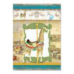 Vintage Circus Poster, Giraffe Baby Shower Custom Invite