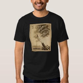 Vintage Circus Poster Human Cannon Ball circa 1879 Tshirts