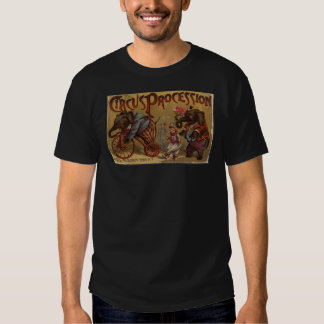 "Vintage ""Circus Procession"" Design T-Shirt"