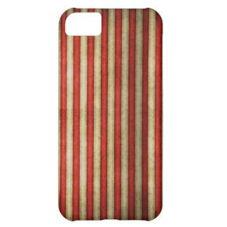 Vintage circus red grunge stripes stripe pattern iPhone 5C case