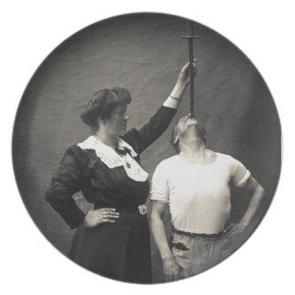 Vintage Circus Sideshow Sword Swallower Freak Plates