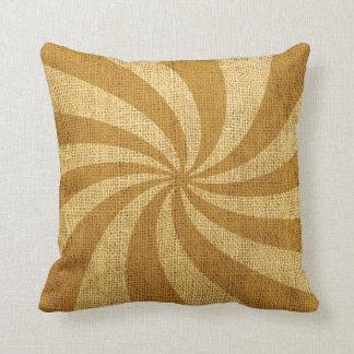 Vintage Circus Spiral Golden Cushion