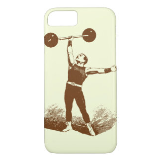 Vintage circus strongman iphone 7 case