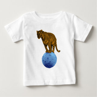 Vintage Circus Tiger Baby T-Shirt