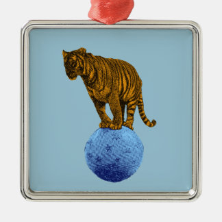 Vintage Circus Tiger Christmas Ornament