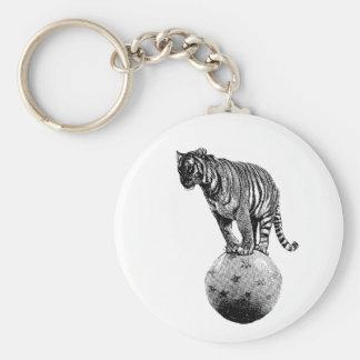 Vintage Circus Tiger Gifts Key Ring
