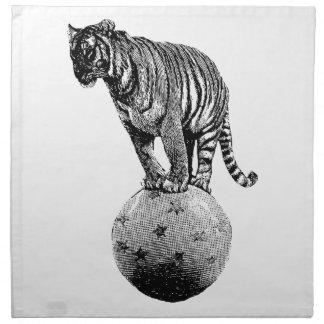 Vintage Circus Tiger Gifts Napkin