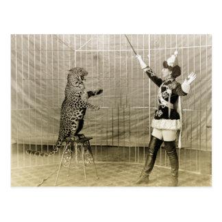 Vintage Circus Trainer Postcard