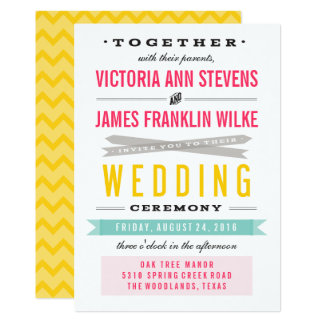 Vintage Circus Wedding Invitations
