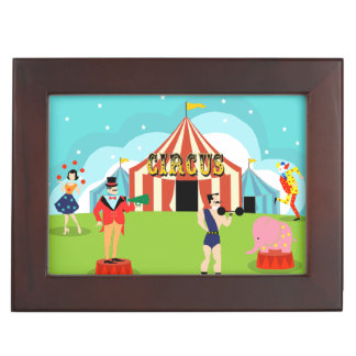 Vintage Circus Wooden Keepsake Box