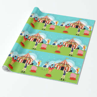 Vintage Circus Wrapping Paper