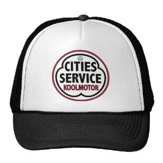 Vintage Cities Service koolmotor sign Hats