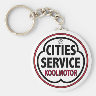 Vintage Cities Service koolmotor sign Key Chain