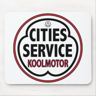 Vintage Cities Service koolmotor sign Mouse Pad