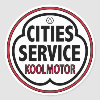 Vintage Cities Service koolmotor sign Classic Round Sticker
