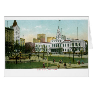 "Vintage ""City Hall"" New York Greeting Card"