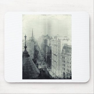 Vintage City Scene Mouse Pad