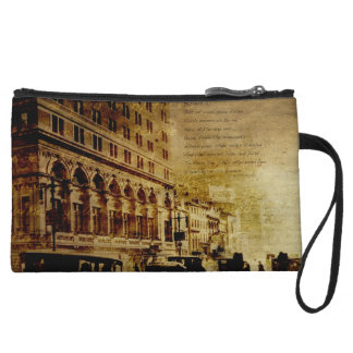 Vintage City Street Wristlet Clutches