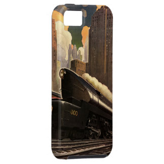 Vintage City, T1 Duplex Train on Railroad Tracks Tough iPhone 5 Case