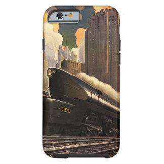 Vintage City, T1 Duplex Train on Railroad Tracks Tough iPhone 6 Case