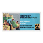 Vintage Civil Defence Sign of Protection Poster