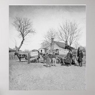 Vintage Civil War Photographer Sam Cooley Poster
