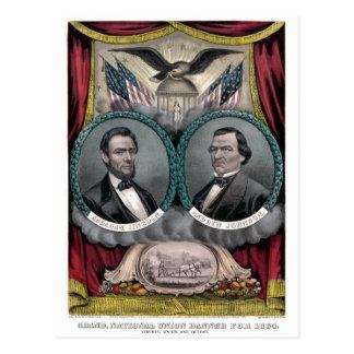 Vintage Civil War Republican Presidential Election Postcard
