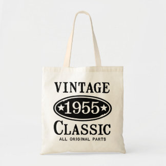 Vintage Classic 1955 Gift Budget Tote Bag